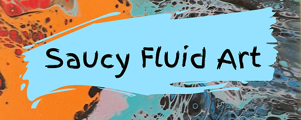 Saucy Fluid Art Banner