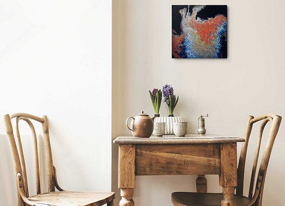 Bright Metallic Fluid Painting