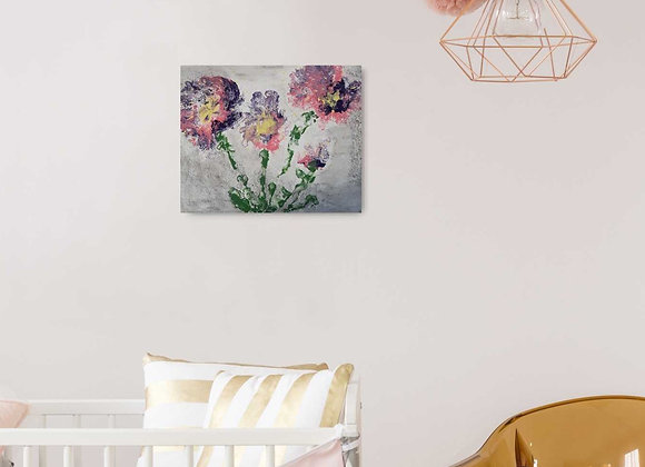 Distressed Floral Art