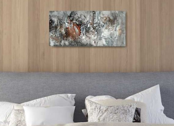 Distressed Rustic Acrylic Painting
