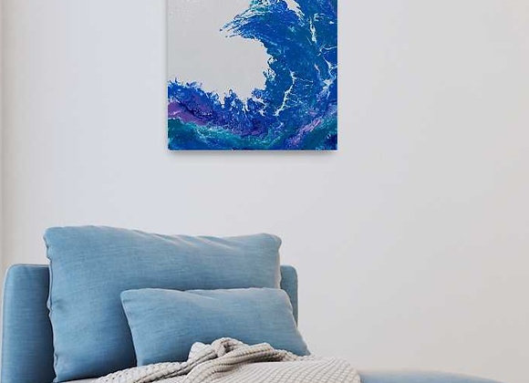 Giant Waves Acrylic Canvas Painting
