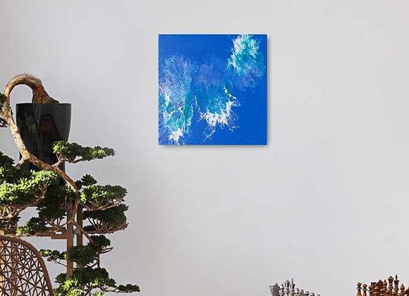 Blue Sea Acrylic Pour Painting