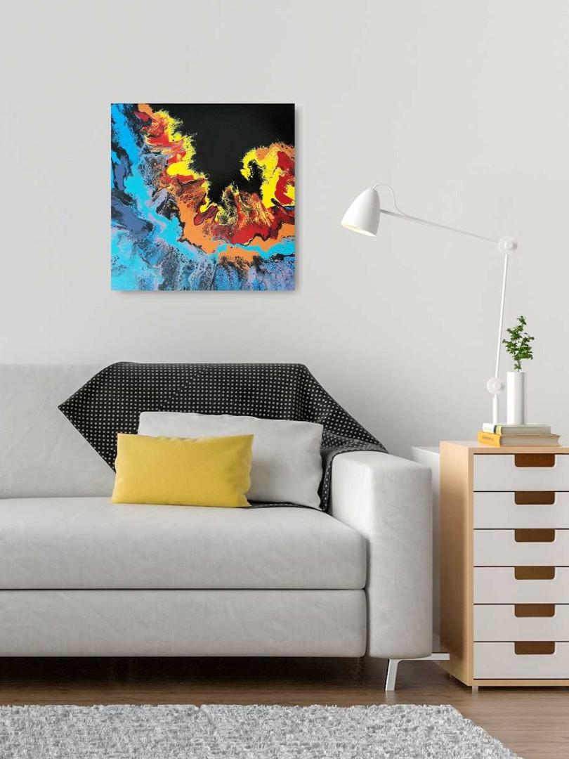 Fire Wave Fluid Art