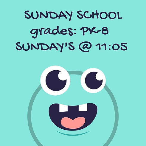 SUNDAY SCHOOL Grades_ PK - 8 COMING OCT.