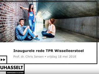 Inaugurele Rede Chris Jansen TPR Wisselleerstoel Universiteit Hasselt