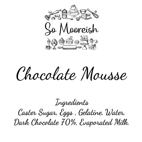 So Mooreish Chocolate Mousse (Serves 2) FOR COLLECTION ONLY