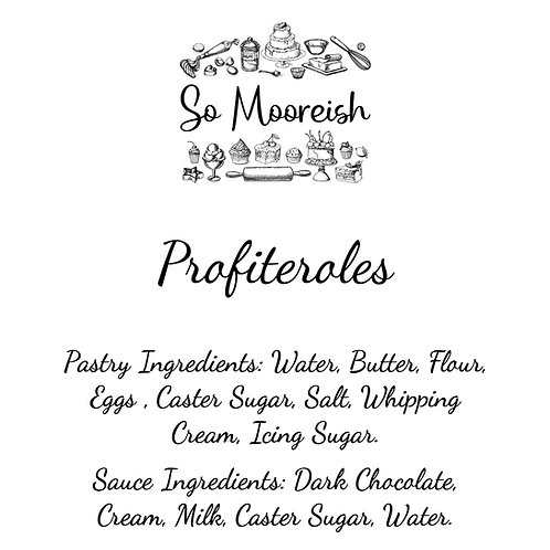 So Mooreish Profiteroles (Serves 6) FOR COLLECTION ONLY