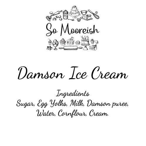 Damson Ice Cream, 125ml (Pack of 12)