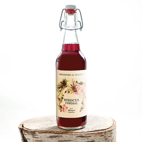 Hibiscus Cordial, Case of 6 bottles