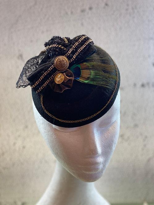 Fascinator hat, cocktail hat, Lace Hat, Felt Hat