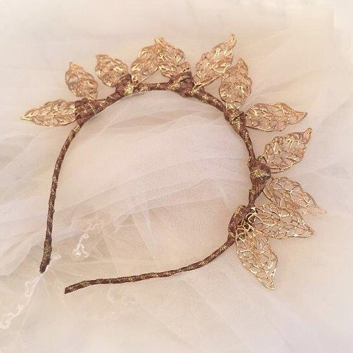 Gold Crown with gold embellishment,crown fascinate ,sierra headband