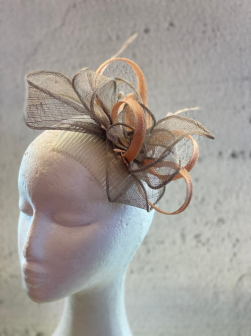 Cocktail fascinator, wedding headpiece, sinamay fascinator