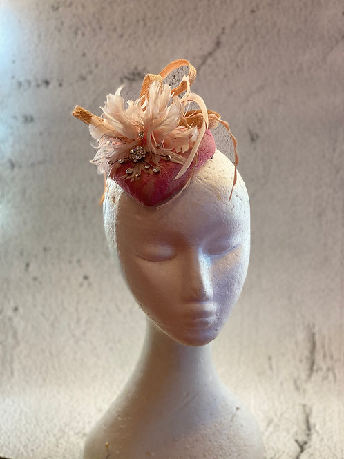 Pink Fascinator , cocktail hat