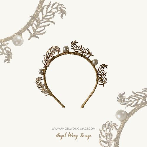 Gold Crown with gold embellishment,crown fascinate ,sierra headband, wedding lux