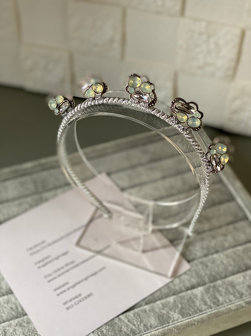 Silver Crown with silver embellishment,crown fascinate ,sierra headband