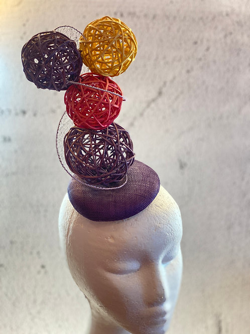 Colourful Balls party hat, cocktail hat