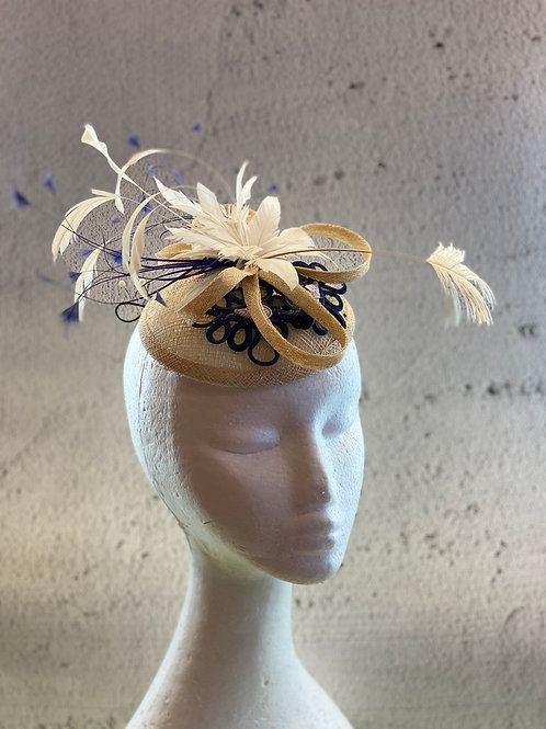 Fascinator hat, Cocktail hat, Lace Hat, Mother of bride, Wedding Hat