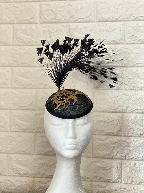 Black Facinator, Ascot Hat, Derby Hat, Cocktail Hat
