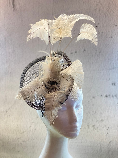 Fascinator hat, cocktail fascinator, racing fascinator, headwear