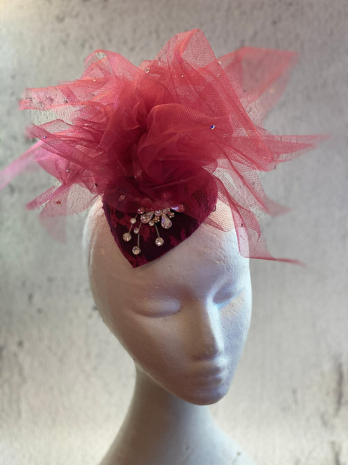 Fascinator hat, cocktail hat, Lace Hat, Felt Hat