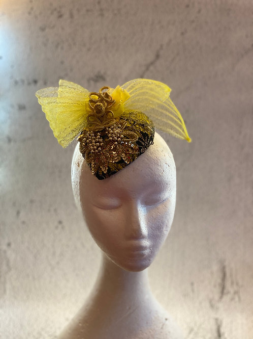 Fascinator hat, cocktail hat, Lace Hat