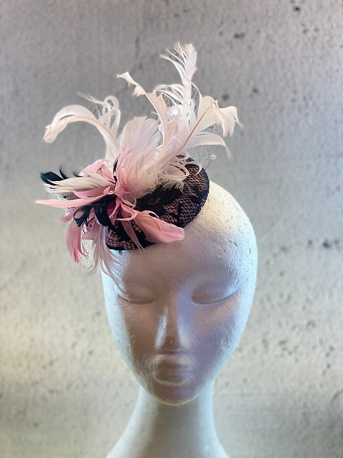 copy of copy of copy of Fascinator hat, cocktail hat, Lace Hat, Felt Hat