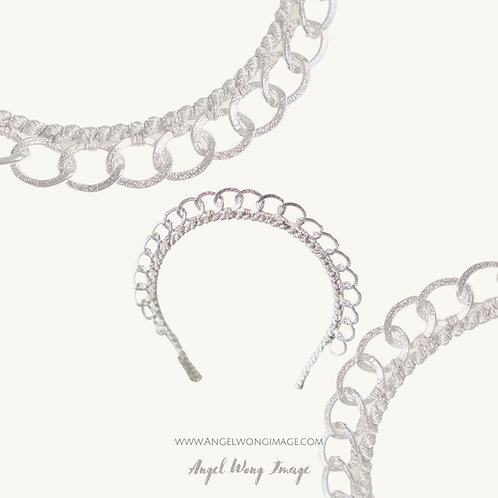 Silver Crown with silver embellishment,crown fascinate ,sierra headband, wedding