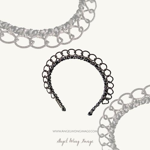 Silver embellishment,crown fascinate ,sierra headband