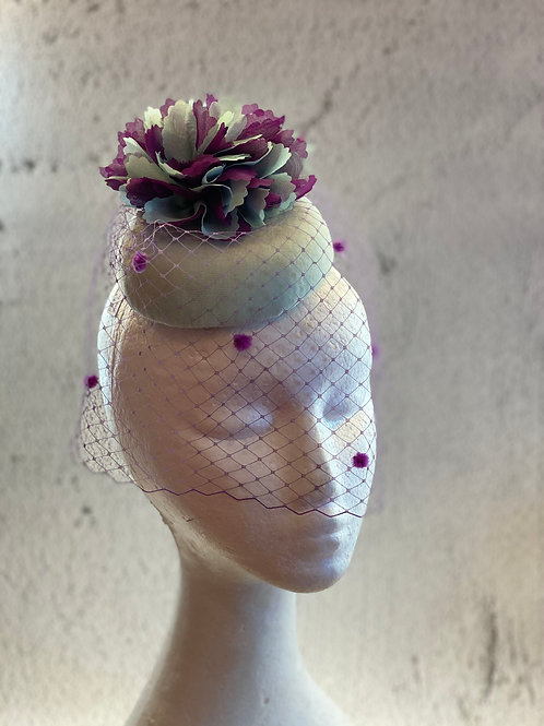 Cocktail hat, party hat with veil