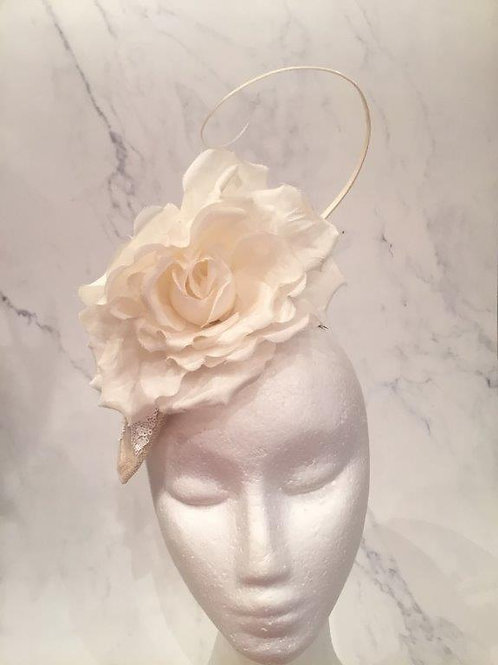 Bride white Fascinator