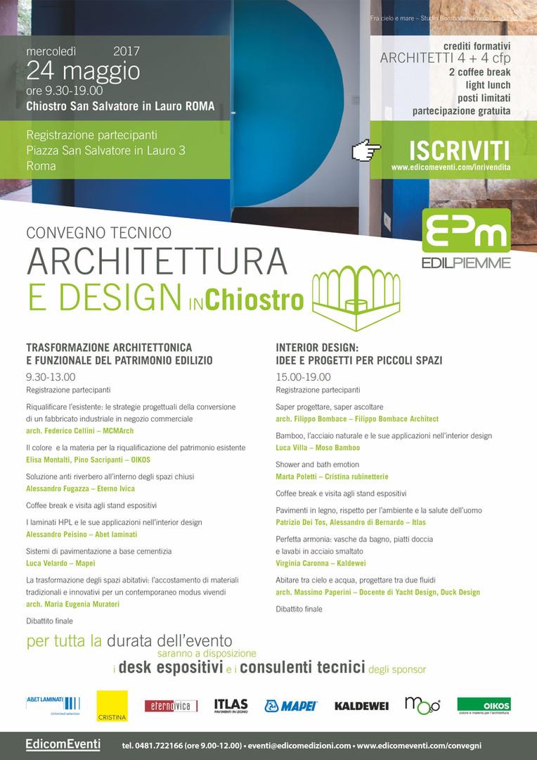 ARCHITETTURA E DESIGN IN Chiostro