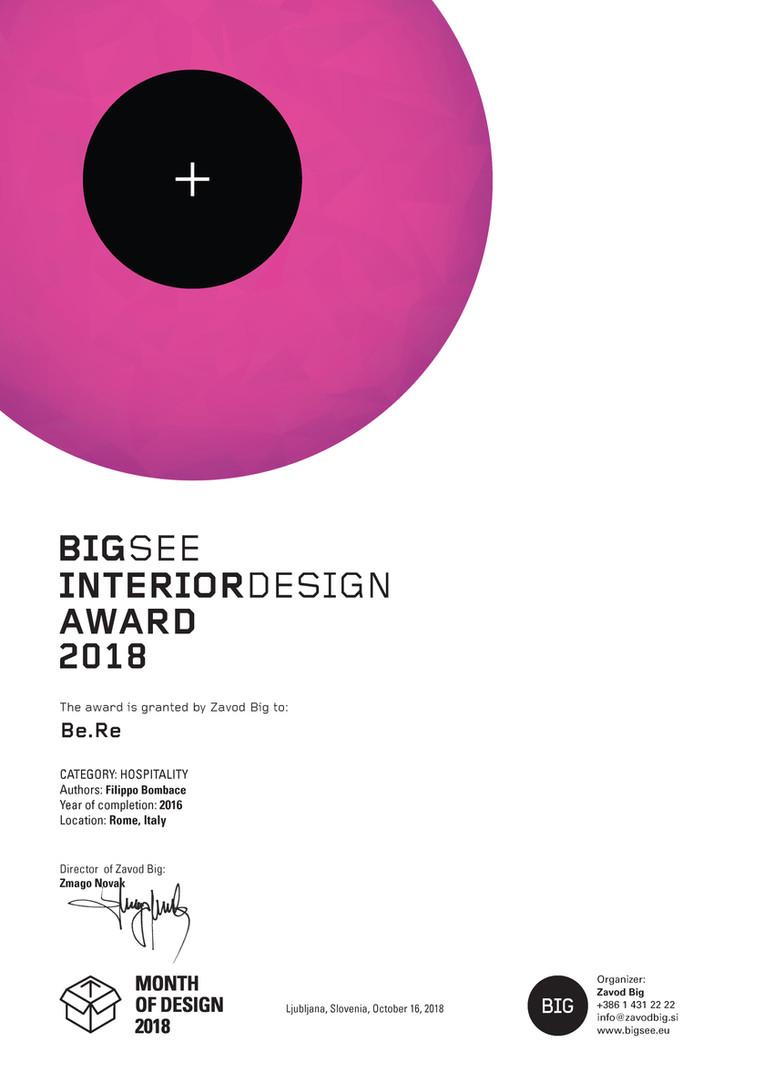 Be.Re. receives BIGSEEAWARD