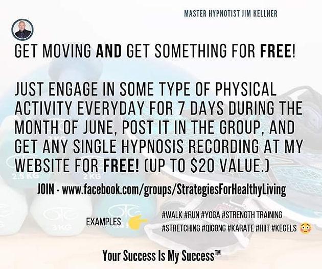 June Challenge! Get something FREE    Master Hypnotist Jim Kellner