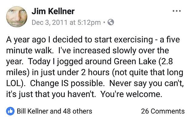 Change IS possible    Master Hypnotist Jim Kellner  Weight Loss