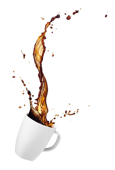 coffee spill mask transparent background
