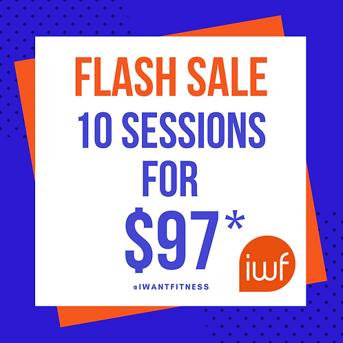 FLASH Sale - 10 sessions for $97