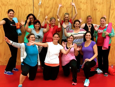 Group photo of women's bootcamp in Wantirna