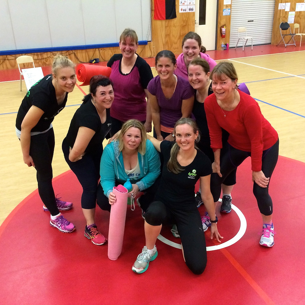 Katie (second from left) at I Want Fitness bootcamp