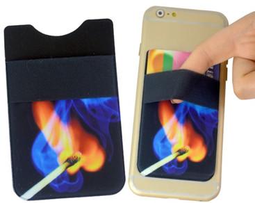 Microfibre phone holder