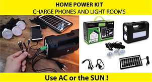Solar or AC Home Power KIt