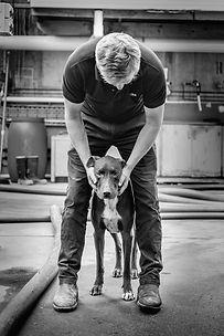 Shottesbrooke Wines McLaren Vale Winemaker Hamish Maguire with Winery Dog