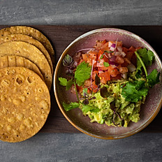 Tostadas – chilli + lime salt – guacamole – pico de gallo