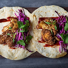 Fried cauliflower tacos – red cabbage – chipotle ketchup (x2)