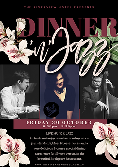 Dinner & Jazz the riverview hotel A5 fly
