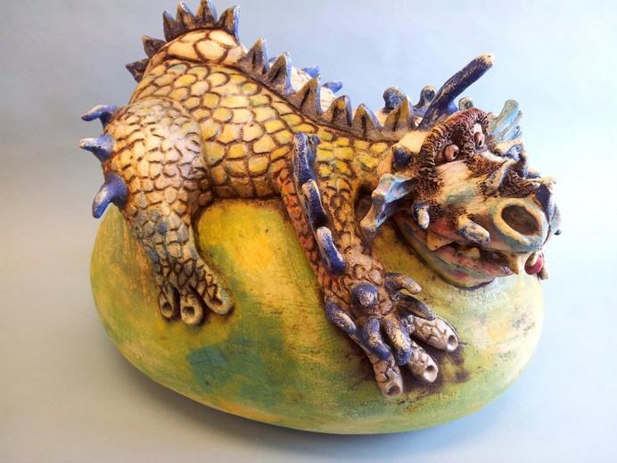 Dragon on egg