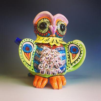 Beautiful owl Teapot 2018