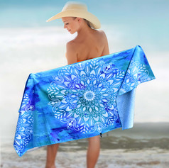 MANDALA BLUE 63x31