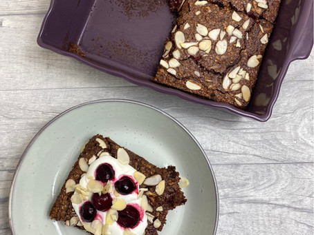 Cherry Chocolate Baked Oatmeal