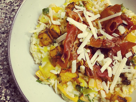 Butternut Squash Risotto - 2 ways