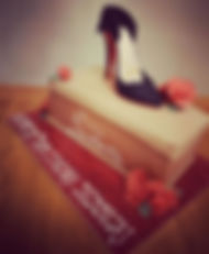 Christian Louboutin Shoe and Box Cake